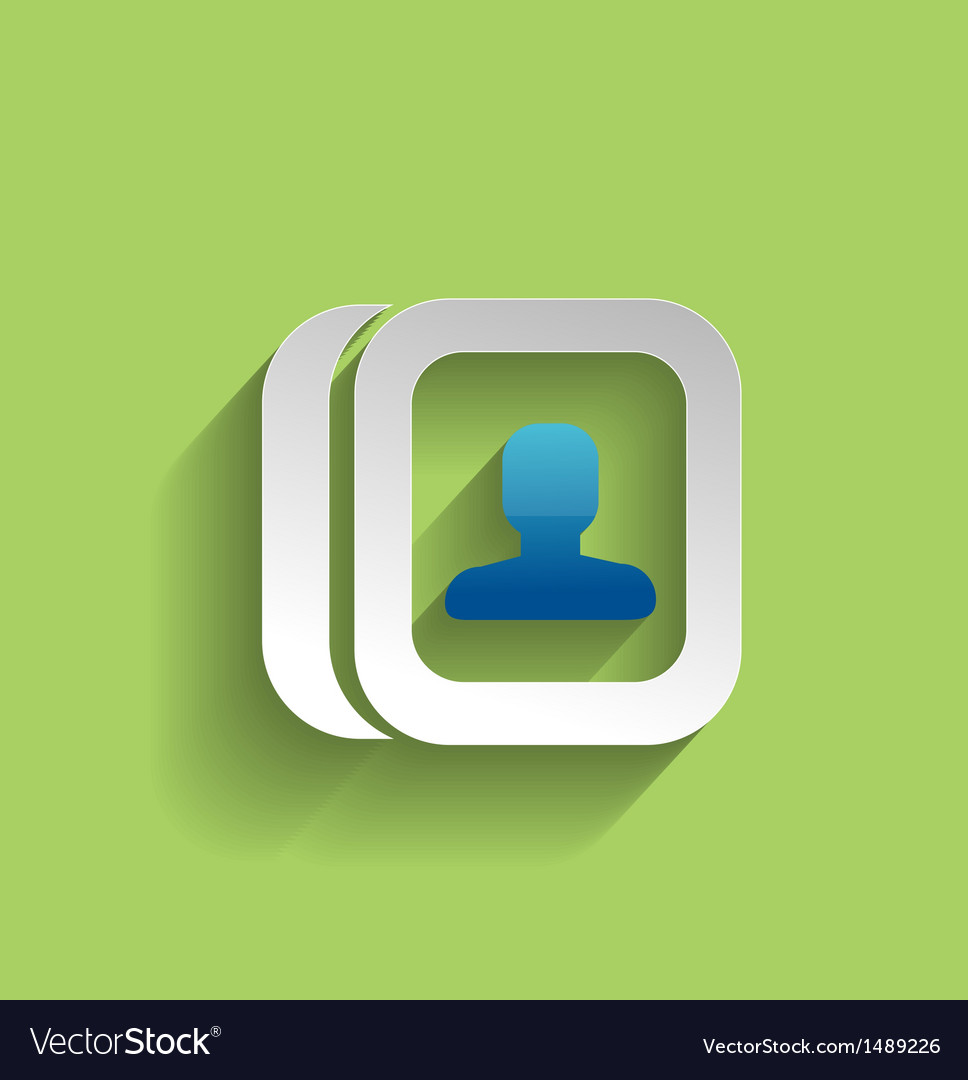 Contacts modern flat icon vector | Price: 1 Credit (USD $1)