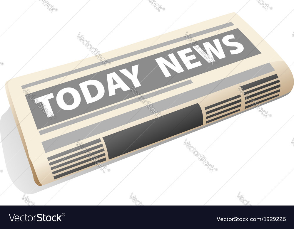 Folded newspaper icon presenting the news vector | Price: 1 Credit (USD $1)