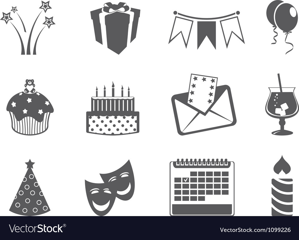Holiday icons vector | Price: 1 Credit (USD $1)