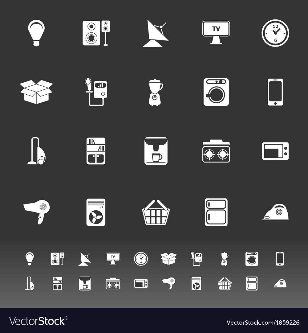 Home related icons on gray background vector | Price: 1 Credit (USD $1)