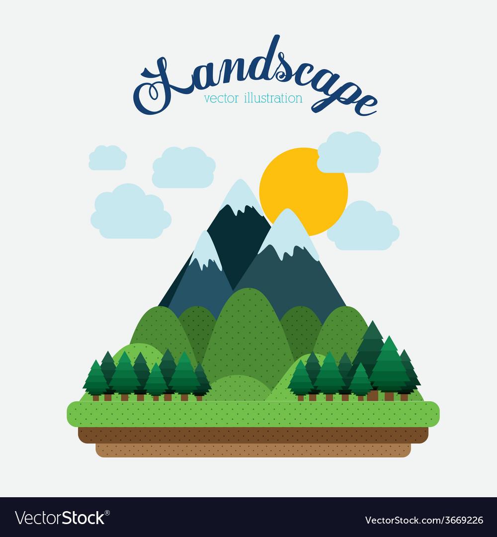 Landscape design vector | Price: 1 Credit (USD $1)