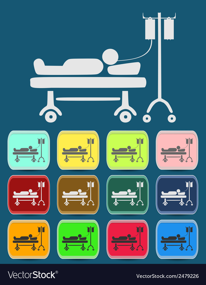 Life icons hospitalized vector | Price: 1 Credit (USD $1)