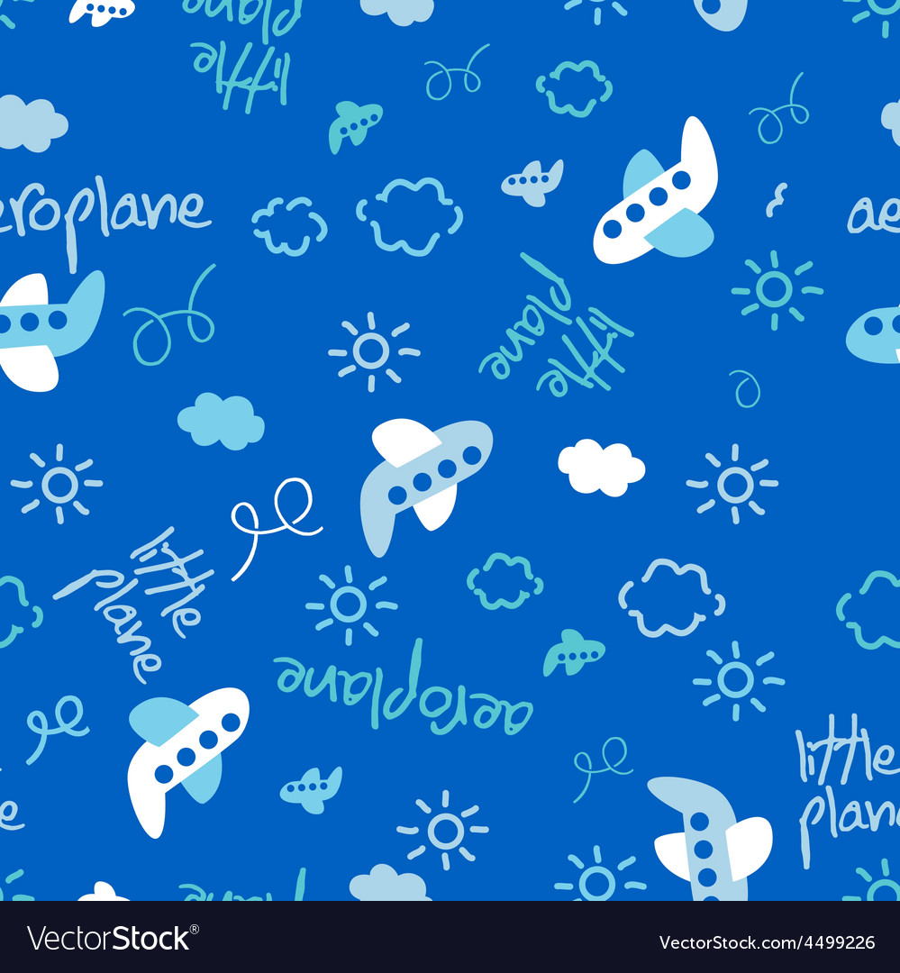 Little plane repeat pattern vector | Price: 1 Credit (USD $1)