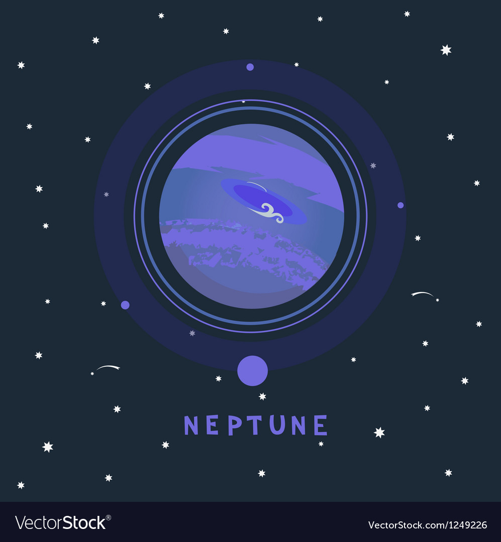 Neptune space view vector | Price: 1 Credit (USD $1)