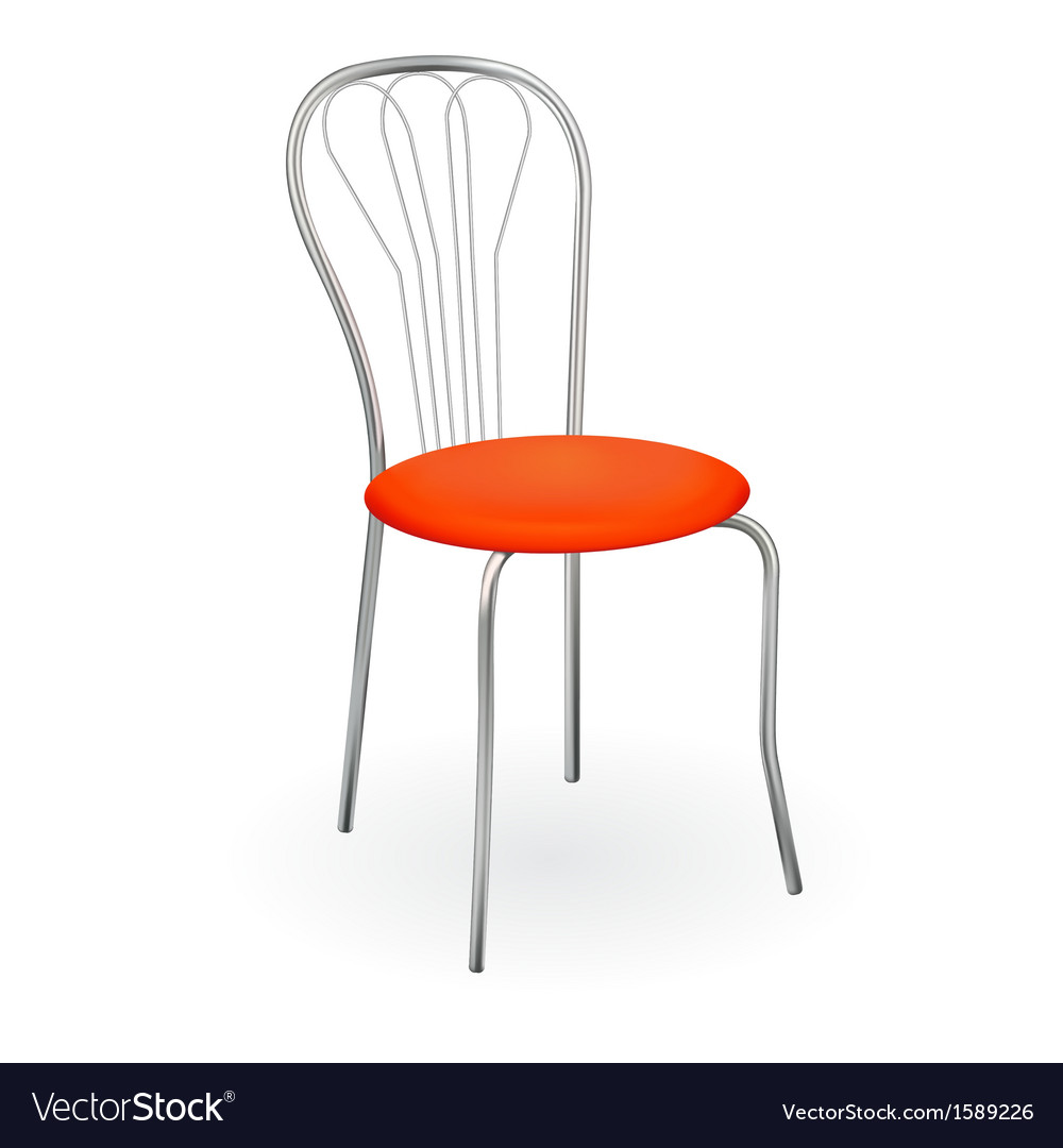 Realistic chair isolated on white for design vector | Price: 1 Credit (USD $1)
