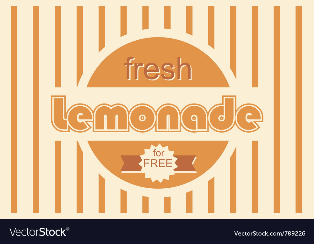 Retro lemonade background design vector | Price: 1 Credit (USD $1)