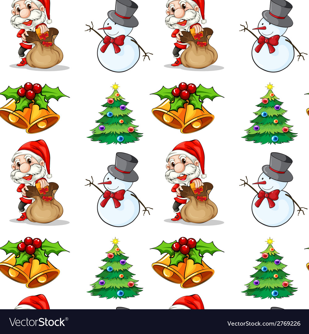 Seamless christmas vector | Price: 1 Credit (USD $1)