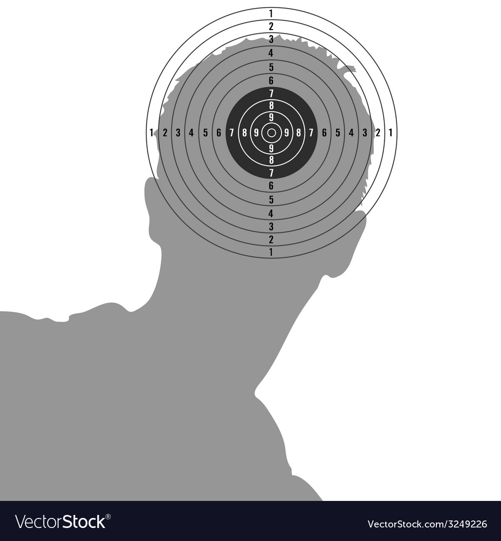 Target on man head vector | Price: 1 Credit (USD $1)