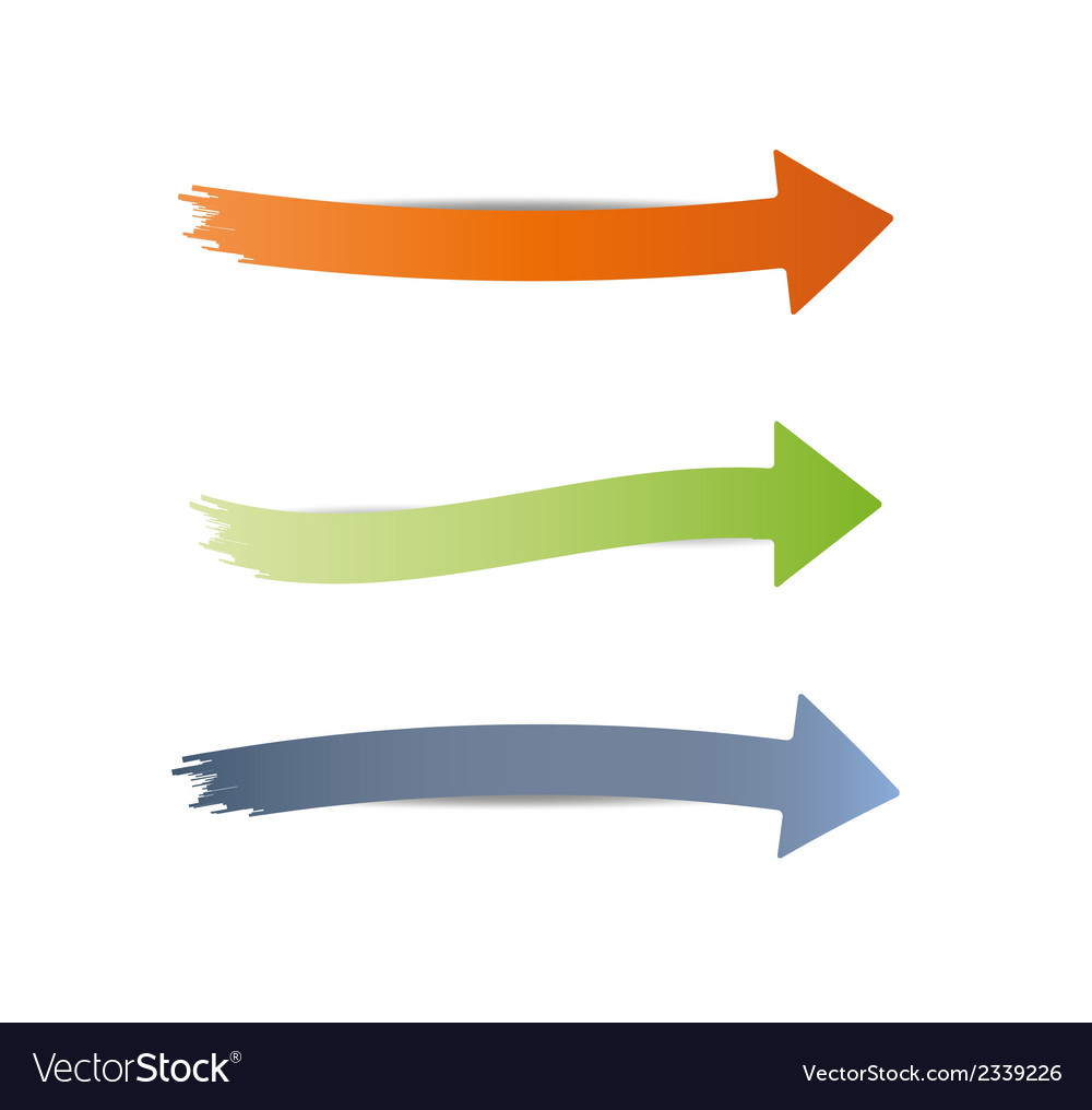Three different arrows vector | Price: 1 Credit (USD $1)