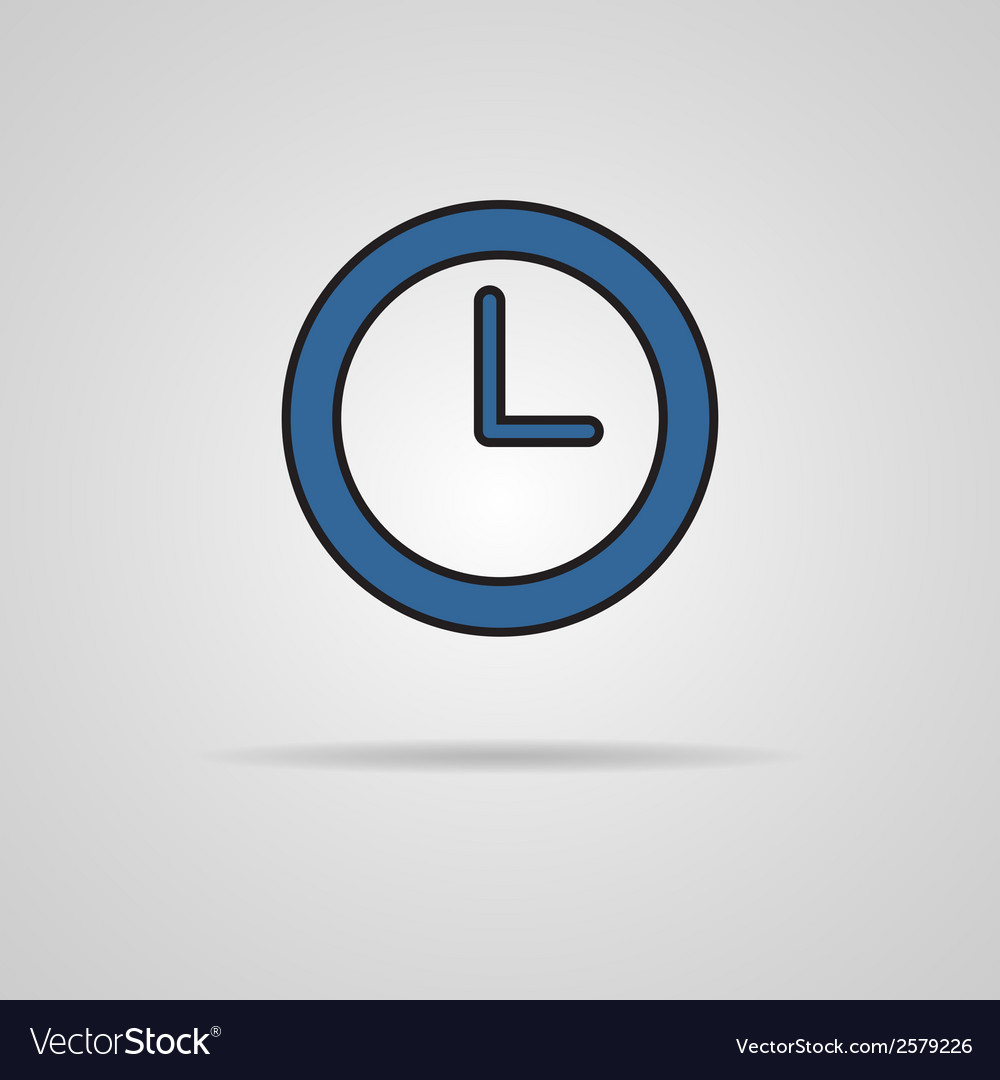 Watch icon with shadow - eps10 vector | Price: 1 Credit (USD $1)