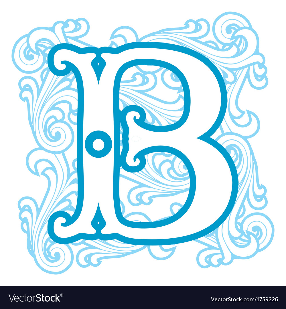 Winter vintage letter b vector | Price: 1 Credit (USD $1)