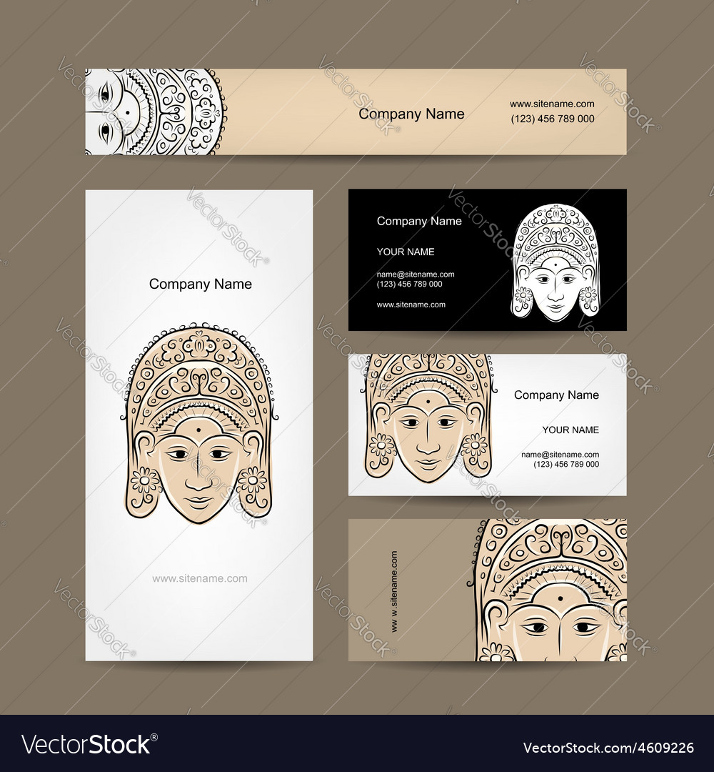Wooden mask of indonesian dancer woman sketch for vector | Price: 1 Credit (USD $1)