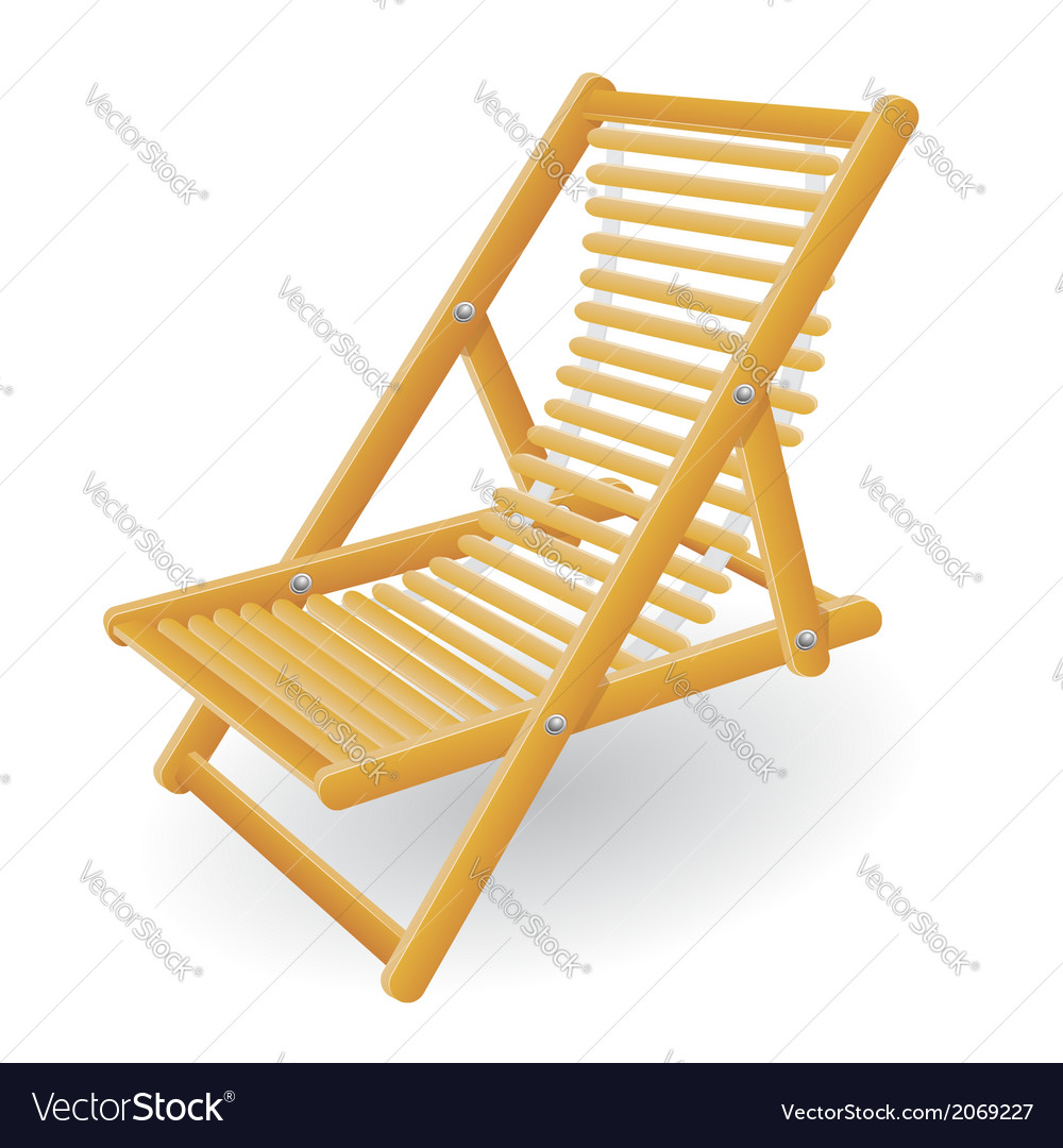 Beach chair 02 vector | Price: 1 Credit (USD $1)