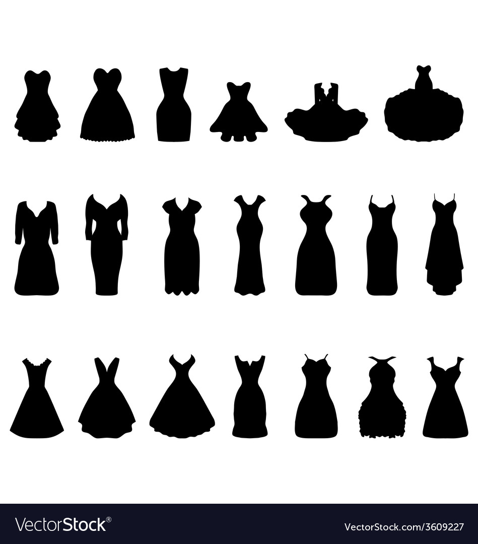 Cocktail dresses vector | Price: 1 Credit (USD $1)