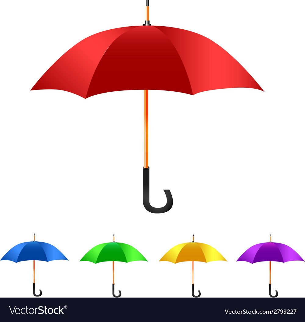Color set umbrella vector | Price: 1 Credit (USD $1)