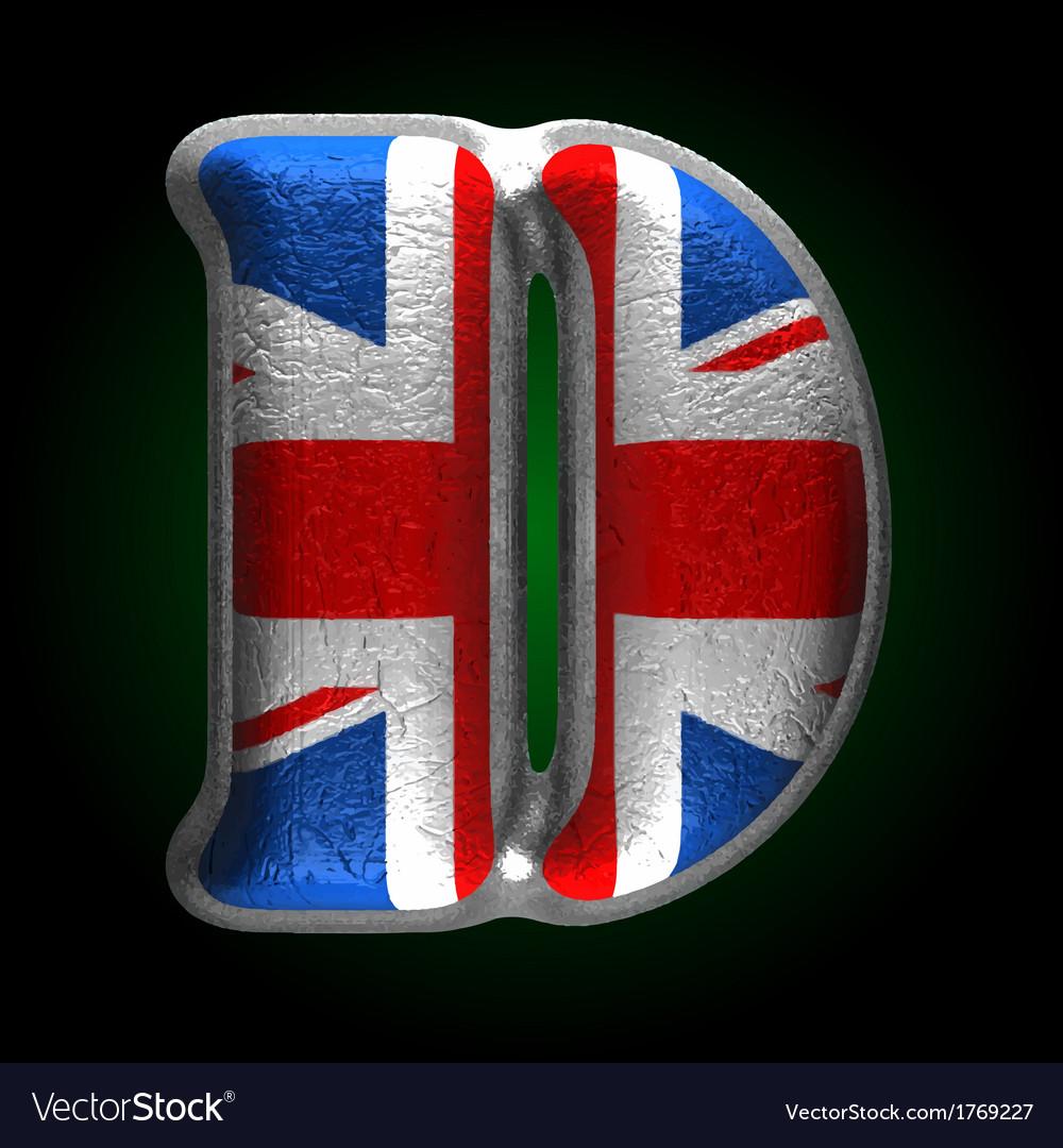 Great britain metal figure d vector | Price: 1 Credit (USD $1)