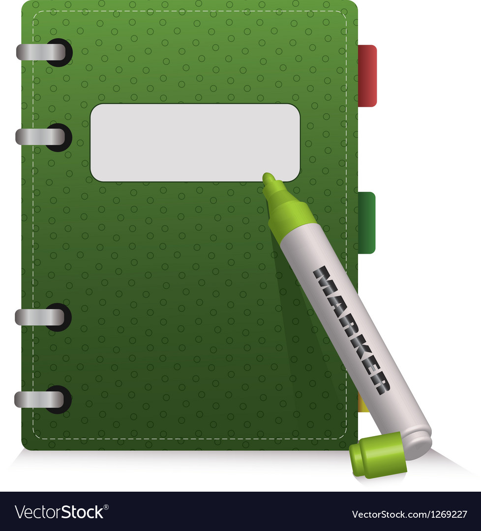 Green diary vector | Price: 1 Credit (USD $1)