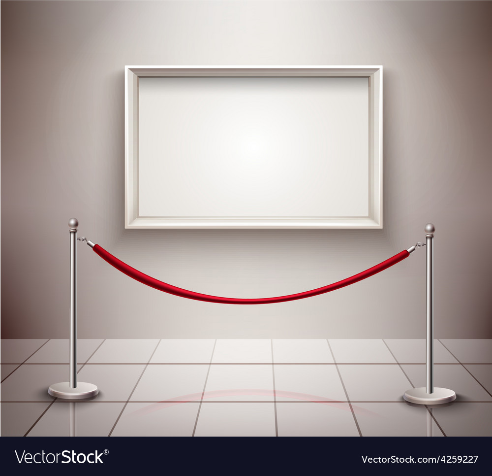 Picture on exhibition vector