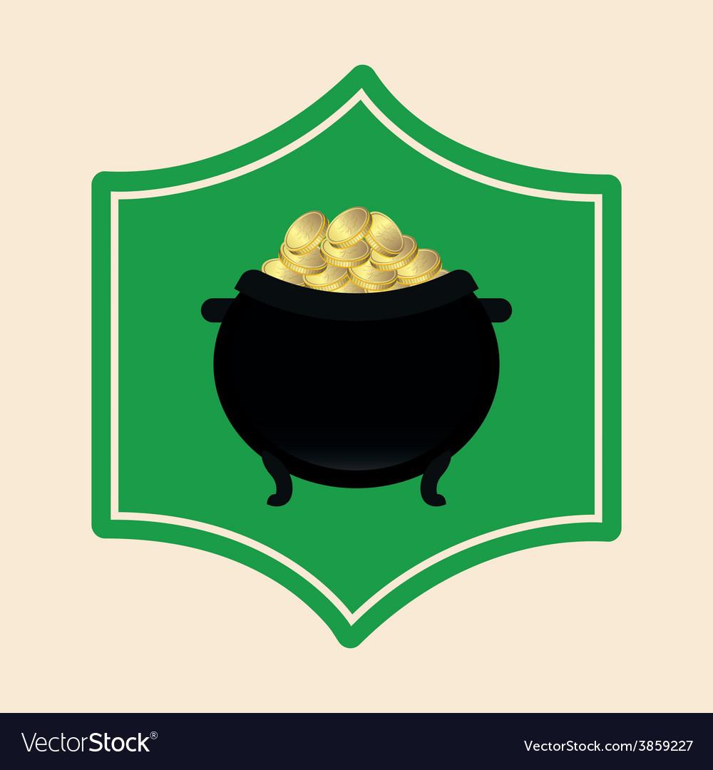 Pot gold vector | Price: 1 Credit (USD $1)
