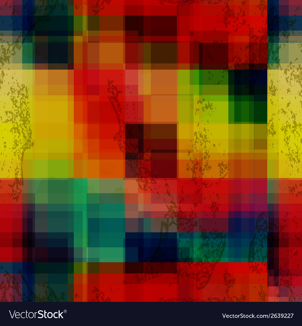 Rainbow colored old ganged blurred mosaic seamless vector | Price: 1 Credit (USD $1)
