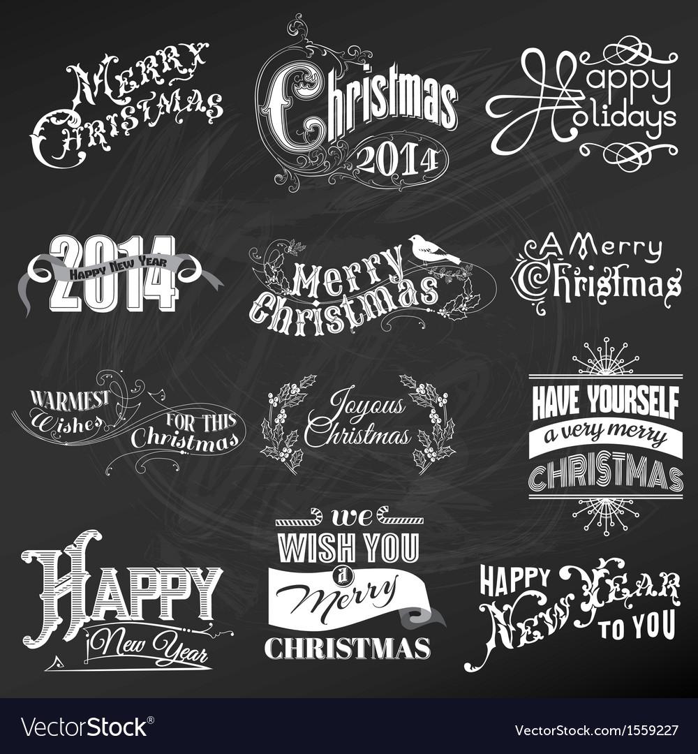 Set christmas calligraphic design elements vector   Price: 3 Credit (USD $3)