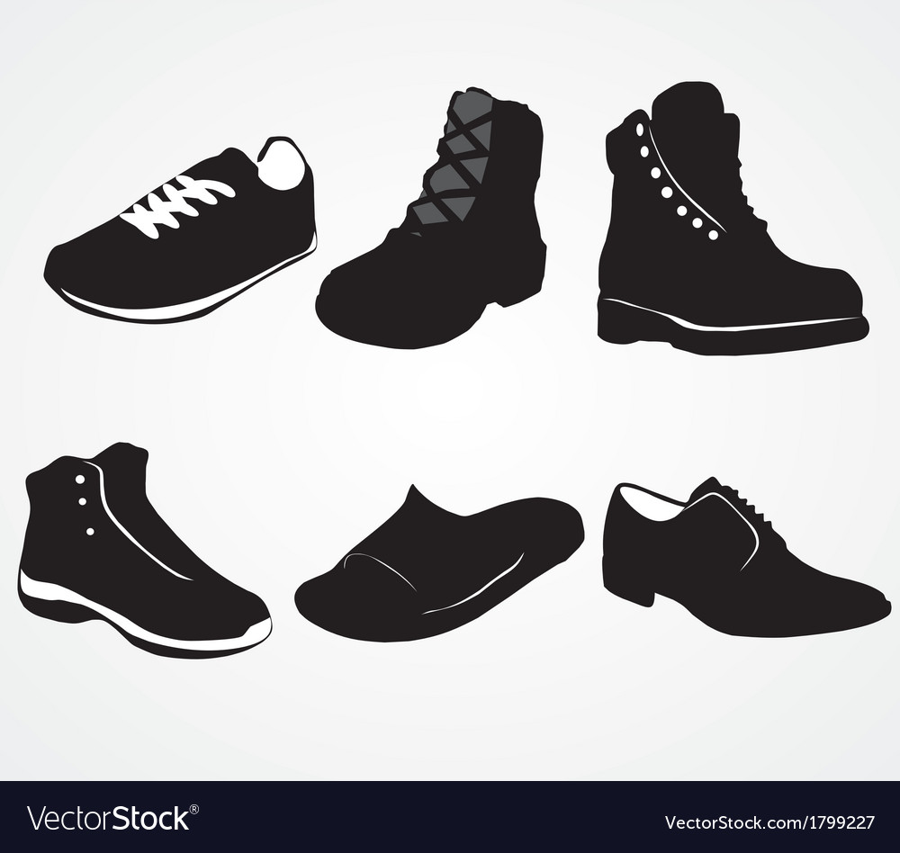Set of icons of mens shoes vector | Price: 1 Credit (USD $1)