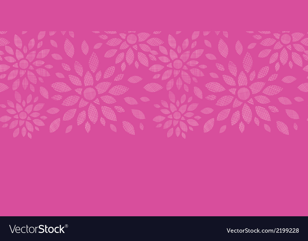 Abstract textile flowers pink horizontal seamless vector | Price: 1 Credit (USD $1)