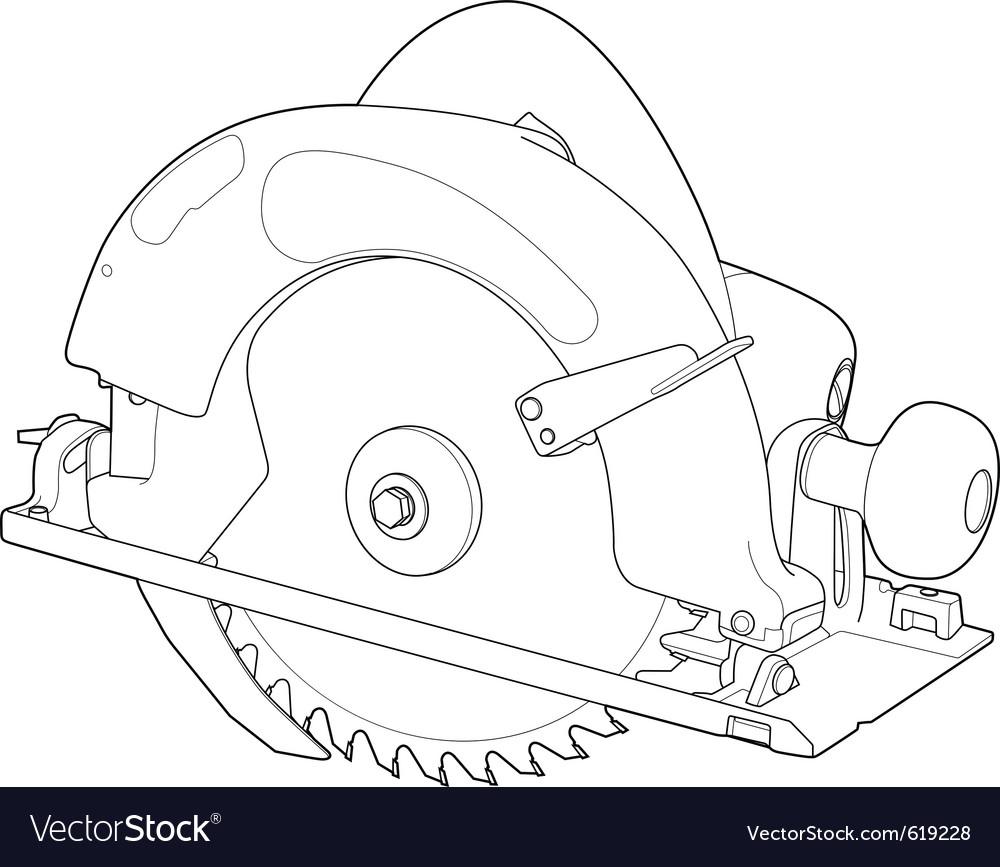 Circular saw vector | Price: 1 Credit (USD $1)