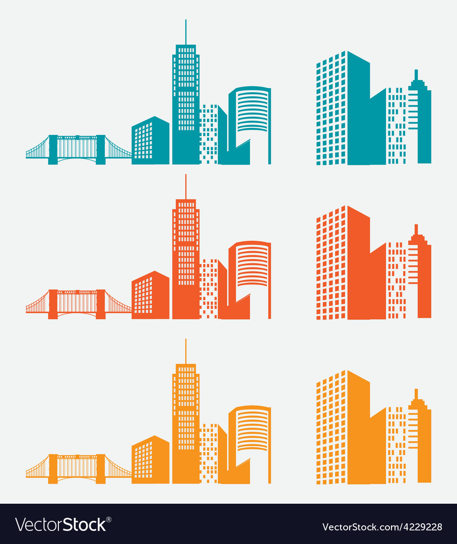 City design vector | Price: 1 Credit (USD $1)