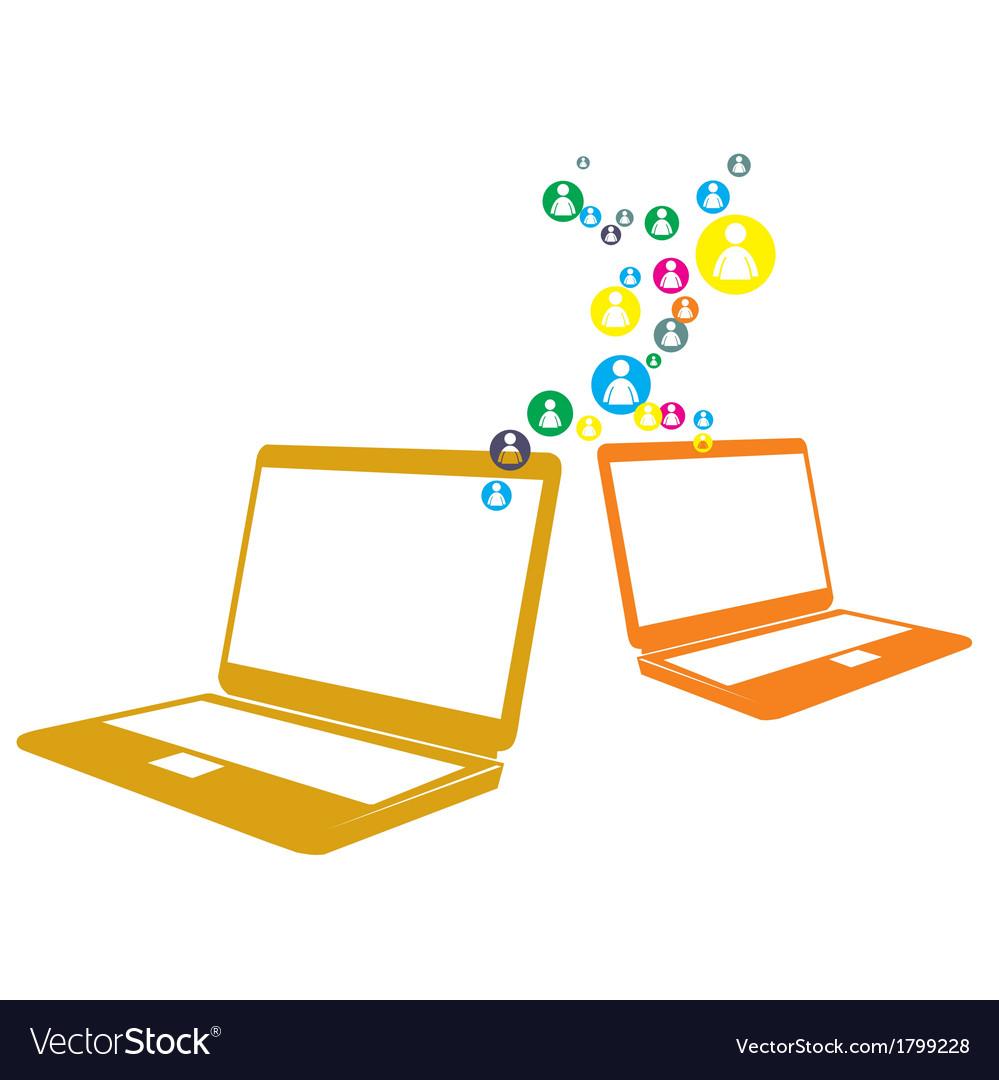 Social computer network vector | Price: 1 Credit (USD $1)