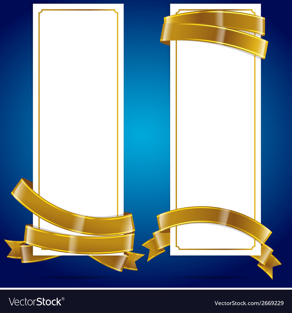 Banner with ribbon 004 vector | Price: 1 Credit (USD $1)