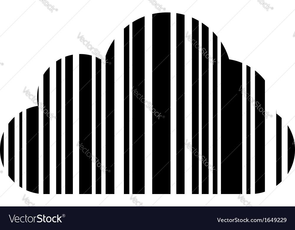 Bar code cloud vector | Price: 1 Credit (USD $1)