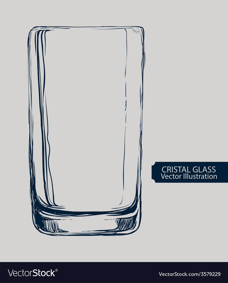 Cristal glass design vector | Price: 1 Credit (USD $1)