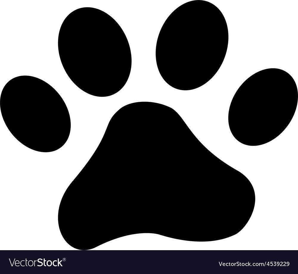 Dog paw vector | Price: 1 Credit (USD $1)
