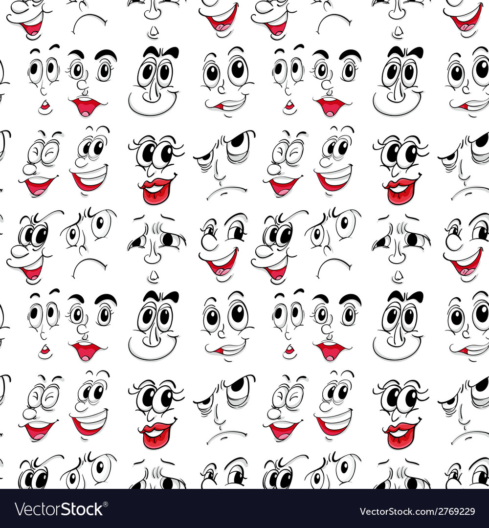 Facial expressions vector | Price: 1 Credit (USD $1)