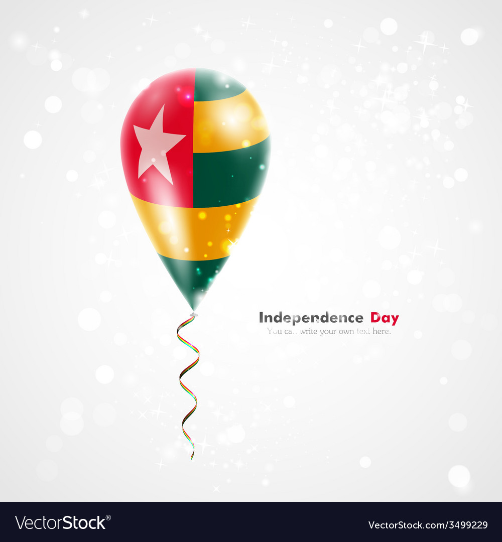 Flag of togo on balloon vector | Price: 1 Credit (USD $1)