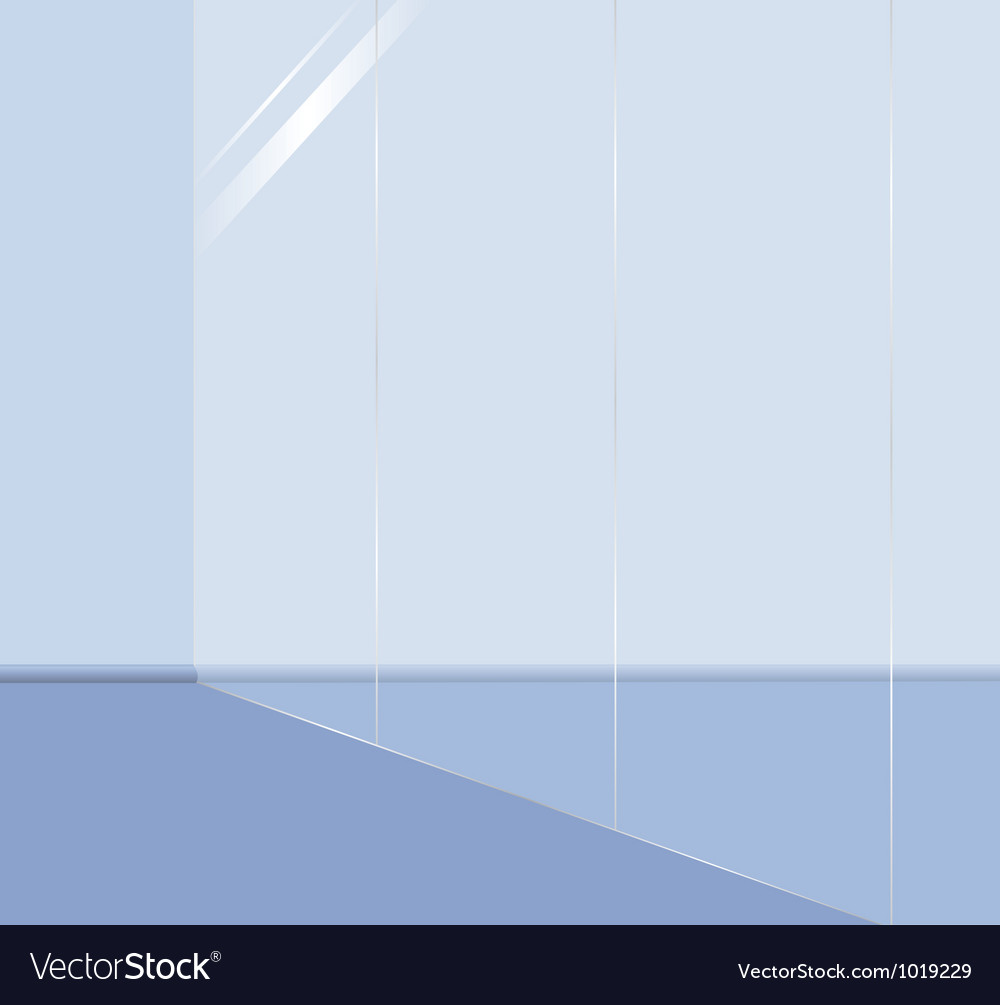 Glass wall vector | Price: 1 Credit (USD $1)