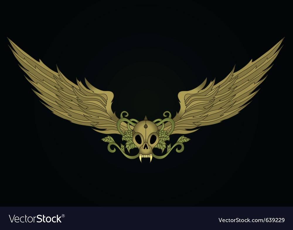 Golden vampire skull vector   Price: 1 Credit (USD $1)