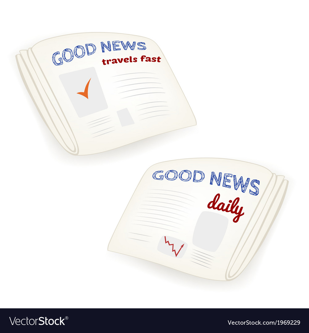 Good news daily newspaper vector | Price: 1 Credit (USD $1)