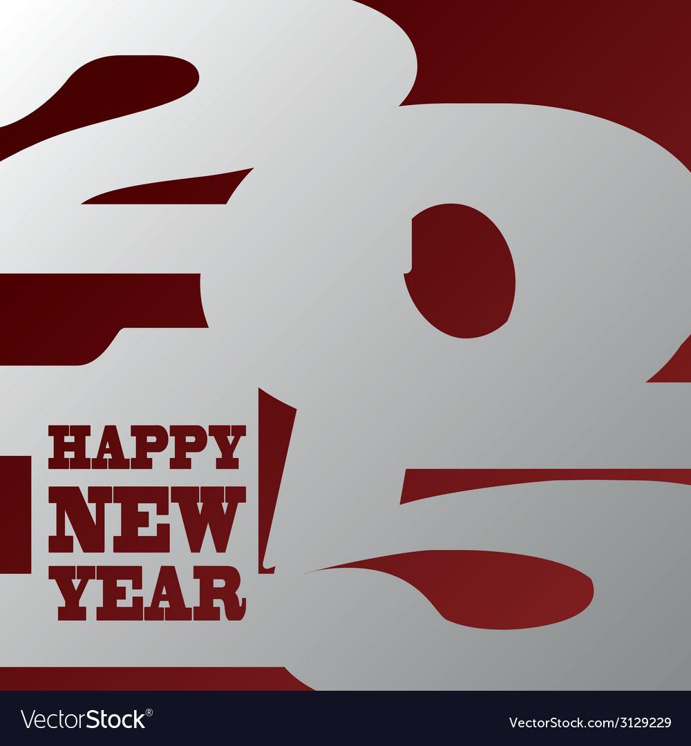 Happy new year design vector | Price: 1 Credit (USD $1)