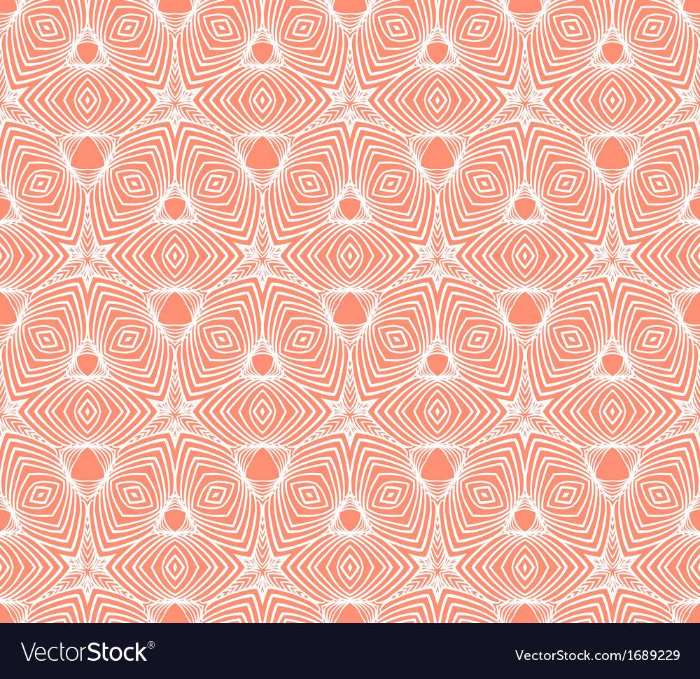 Linear geometric pattern 50s wallpaper design vector | Price: 1 Credit (USD $1)