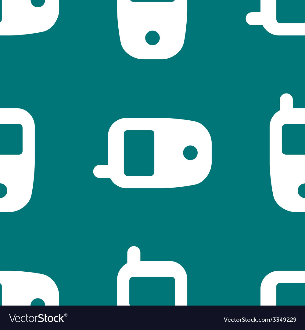 Mobile phone web icon flat design seamless pattern vector | Price: 1 Credit (USD $1)