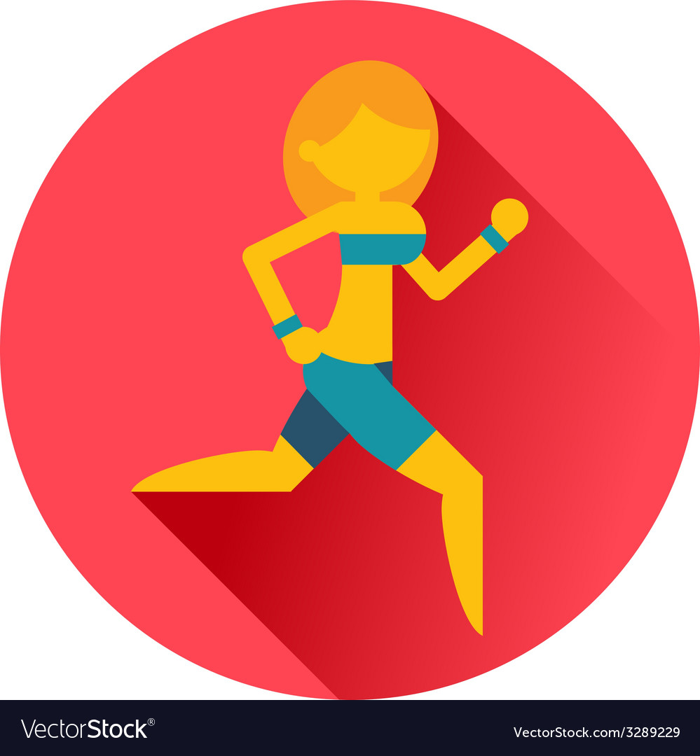 Running sports girl icon vector | Price: 1 Credit (USD $1)