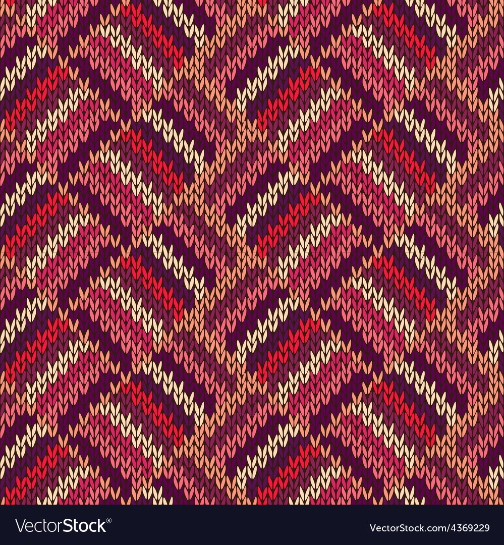 Style seamless color knitted ornament pattern vector | Price: 1 Credit (USD $1)