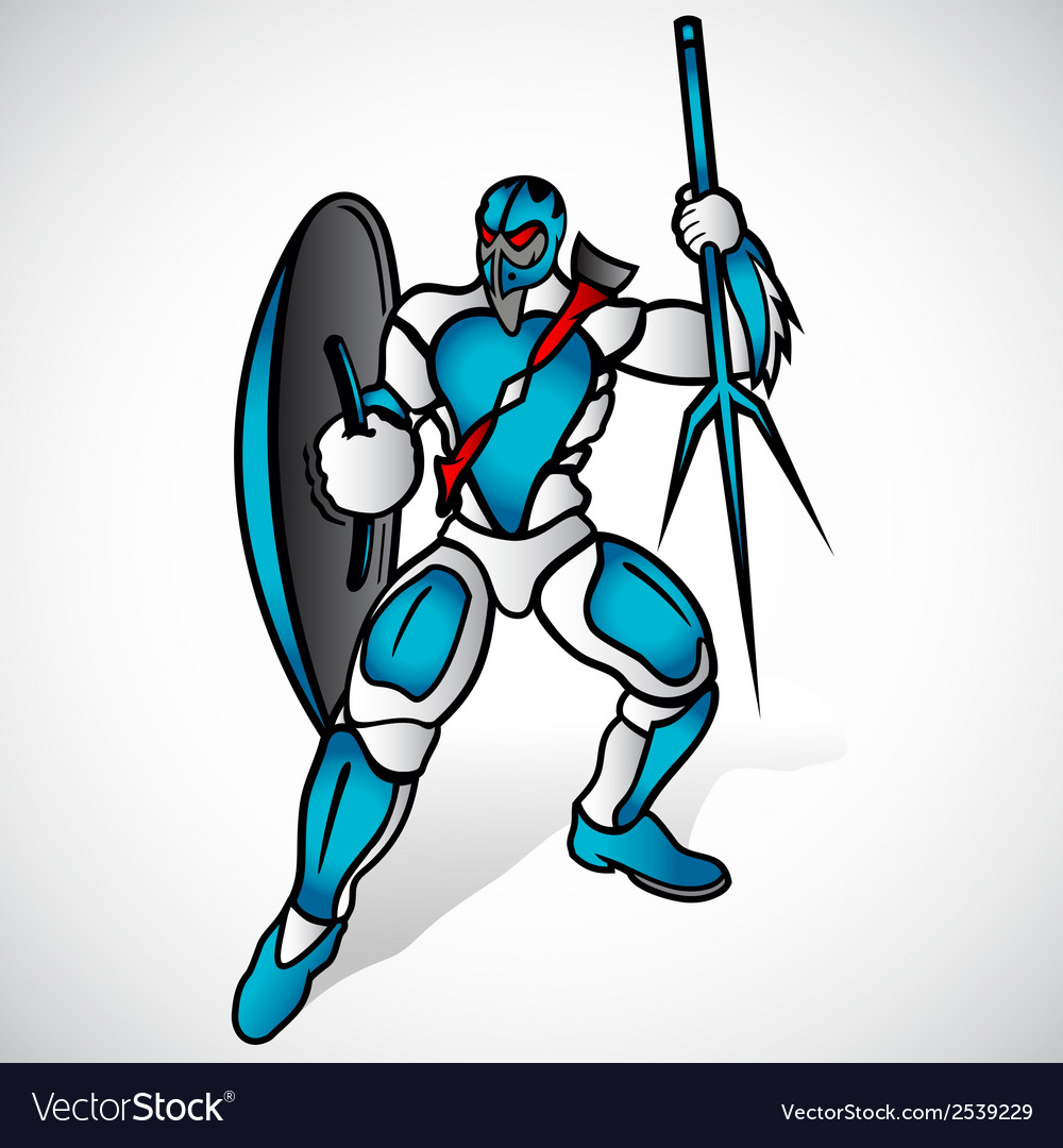 Warrior with a spear vector | Price: 1 Credit (USD $1)