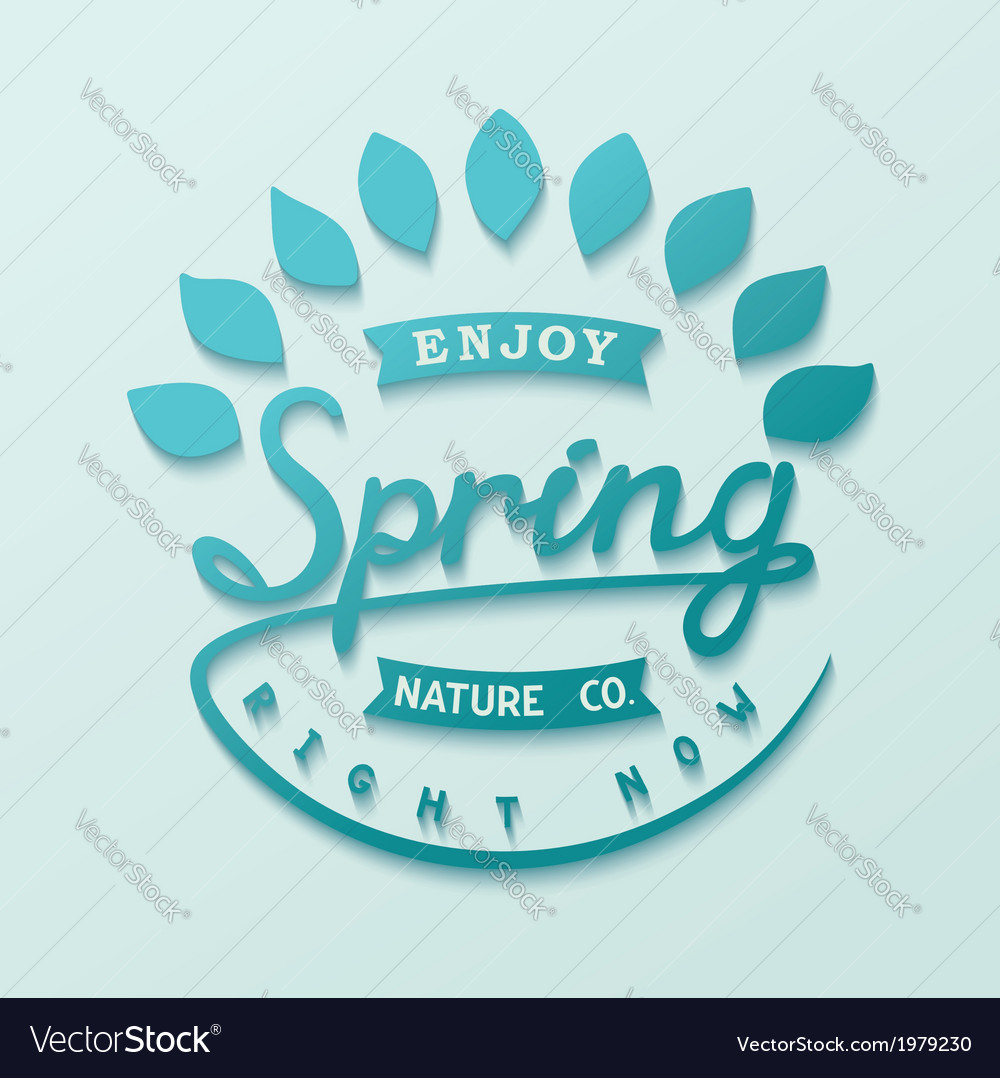 Author design label spring vector | Price: 1 Credit (USD $1)