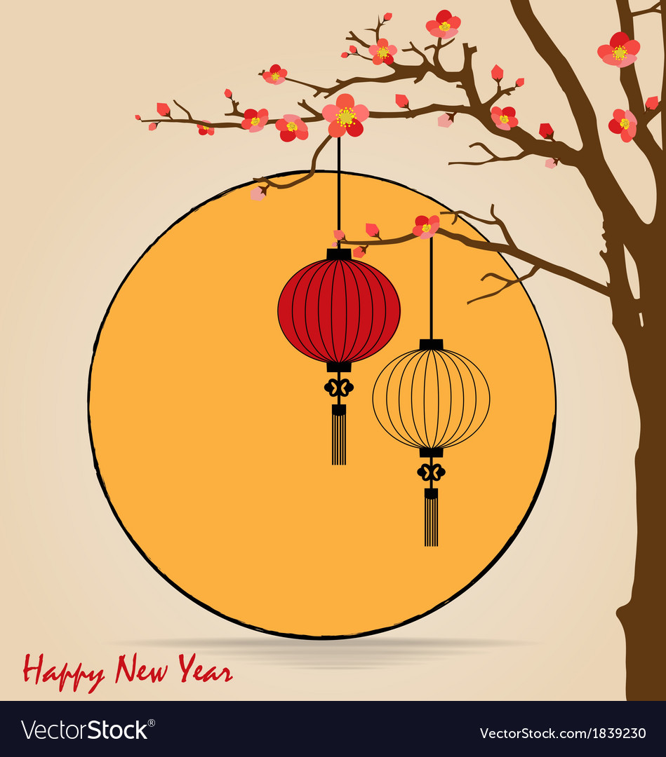 Big traditional chinese lanterns will bring good vector | Price: 1 Credit (USD $1)