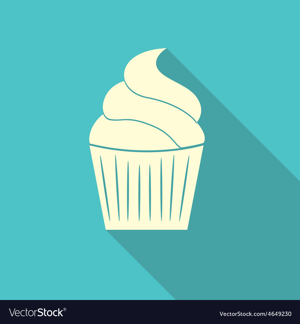 Birthday cake flat web icon vector | Price: 1 Credit (USD $1)