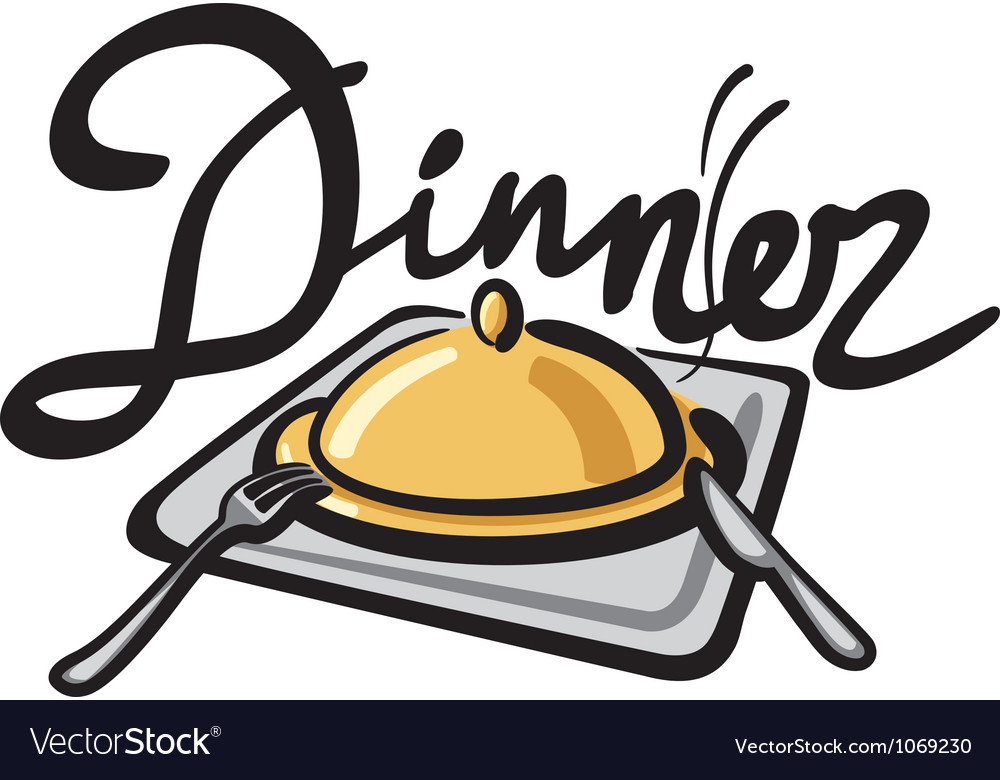 Dinner sign vector | Price: 1 Credit (USD $1)