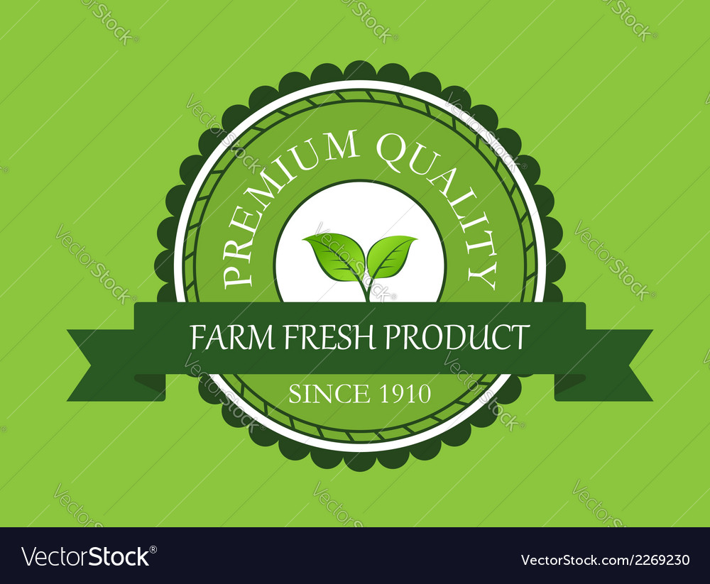 Farm fresh product label vector | Price: 1 Credit (USD $1)